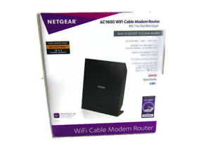 Netgear C6250 AC1600 WiFi Router DOCSIS 3.0 Cable Modem Speeds Up 680 Mbps
