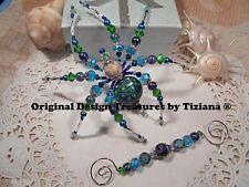 TreasuresbyTiziana® NY Long Island Jones Beach Sand Mood Bead Sea Turtle Spider