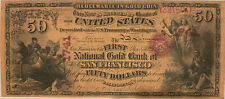 Reproduction $50 National Gold Bank Note 1870 1st National Gold Bank SF CA Copy