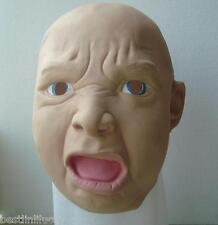 Angry kid Big Baby Latex Face Mask Scary Halloween Masquerade Unisex Fancy Dress