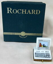 ROCHARD LIMOGES COMPUTER BOX HAND PAINTED FRANCE BNIB PORCELAIN HINGED SAVE$ F/S