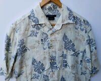 Ermenegildo Zegna S Sport Mens Medium Hawaiian Shirt Floral Linen Camp Italy