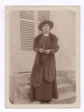PHOTO Femme Mode Chapeau Fourrure Fur Vison Écharpe Étole Tour de cou Vers 1900