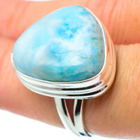 Large Larimar 925 Sterling Silver Ring Size 7.25 Ana Co Jewelry R31524F