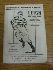 26/12/1959 liga de rugby programa: Leigh V Warrington (manchado, Split columna). Bo