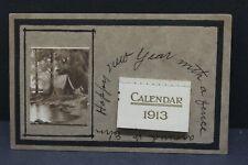 VINTAGE POSTCARD NEW YEAR 1913 WITH CALENDAR  ZERCHER STKAAA30