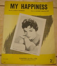 CONNIE FRANCIS ~ MY HAPPINESS ~RARE UK SONG SHEET MUSIC ~ POP ROCK 'N' ROLL 60s
