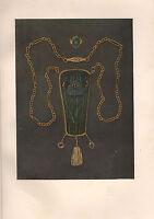 1901 Studio Aufdruck ~ Halskette IN Gold & Enamle Von Nelson & Edith Dawson