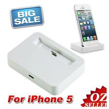 AU For Apple iPhone 5/5S iPod Touch Charger Dock Docking Station Sync Cradle W