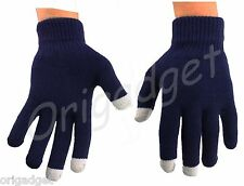 GLOVES TOUCH SCREEN SMARTPHONE IPHONE IPAD IPOD TABLET CONDUCTIVE GLOVES blue L