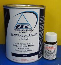Fibreglass(Polyester) Resin and Hardener - 1Ltr