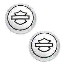 Coppia Emblemi Harley-Davidson 14100747 Metallo adesiva Medaglione