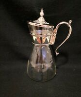 Vintage Silver Plated Glass Pitcher