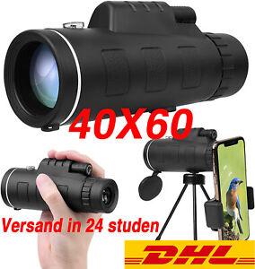 40X60 Full HD Monokular Teleskop Starscope Wasserdicht Zoom für Vogelbeobachtung