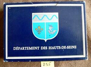 Ancien jeu de cartes ;Coffret  Hauts de Seine , 2 jeux de 54 cartes