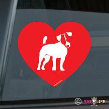 Love Jack Russell Terrier Sticker Die Cut Vinyl - jrt parson