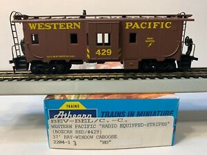 HO Athearn Blue Box Bay Window Caboose Western Pacific, WP #429
