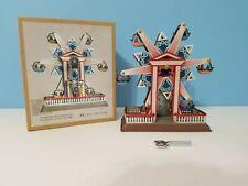 MS435 Snowflake Ferris Wheel Retro Clockwork Wind Up Tin Toy w/Box NEW
