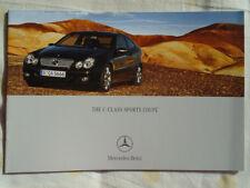 Mercedes C Class Sports Coupe brochure Mar 2004