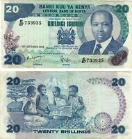KENYA 20 SHILLING BANKNOTE,1986,P#21, UNC Condition