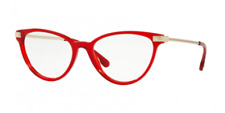 Authentic Versace VE3261 5280 54 Transparent Red Eyeglasses Optical Frame