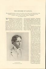 1895 THE SINGERS OF CANADA  by Miller + CARMAN, CAMPBELL, JOHNSON,LAPMAN,ROBERTS