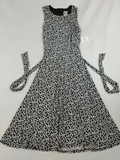new ANNE KLEIN women dress 10761200-HN9 black lily white Sri Lanka sz 6 US $119