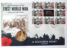 First Day Coin Cover WW1 Coin & Stamps Collection World War One –Joining Up
