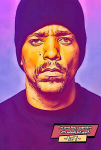 Ice T Comic Icons Art Print (Available In 4 Formats)