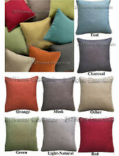 "Texture Weave Cushions Covers With Piping Detail 17"" x 17"" Inches (43cm x 43cm)"