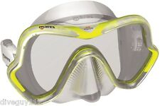 Mares One Vision Mask FreeDive Scuba Diving Dive White/Yellow