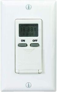 Intermatic Digital In-Wall 7-Day Digital Timer 15 Amp Light Fan Switch CFL LED