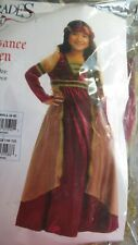 Charades Renaissance Maiden S (6-8) Role Play/Reenactment/Costume~ Great Quality!