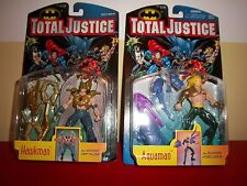 TOTAL JUSTICE ACTION FIGURES - AQUAMAN & HAWKMAN NEW IN PACKAGE FIGURINES KENNER