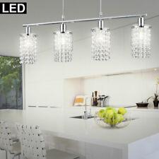 LED Chrome Suspendu Plafonniers Éclairage de Salon Verre Cristal Suspendu Lampe