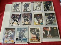 DOUG GILMOUR NHL HOCKEY 12 CARD LOT-VARIOUS YEARS/BRANDS- MAPLE LEAFS/BLUES
