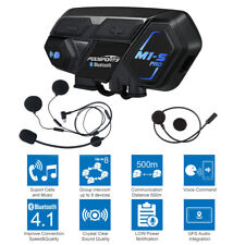 Motorcycle Bluetooth Helmet Intercom M1-S 8 Riders Group Interphone BT Headset