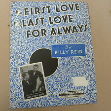 Songsheet primer amor último amor para siempre Jack & Eddy Eden 1947