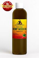 HEMP SEED OIL UNREFINED ORGANIC by H&B Oils Center COLD PRESSED PURE 4 OZ