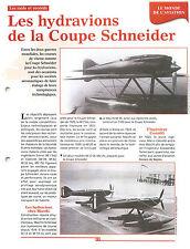 Seaplane Hydravions Coupe trophée Schneider Macchi M.39/72 Agello FRANCE FICHE