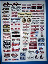 Dragster Personalizado RC Tamiya HPI Losi Rc 1/10/12th Plus Calcomanías Pegatinas extras