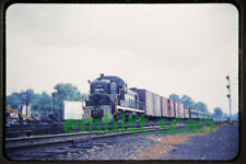 Original Slide, NYC New York Central ALCO RS3 #8274 Mixed Train Action, 1960s