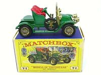 Matchbox Lesney Yesteryear Y2-2 1911 Renault Two Seater In Type 'E' Box