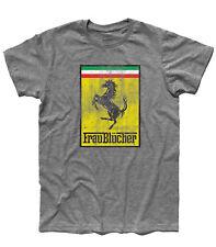 T-shirt uomo Frau Blücher ispirata a Frankestein Junior e al Cavallino Ferrari