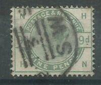 GB QV 1883 9d dull green SG195 HN fine used. Full perfs & good colour. (5377)