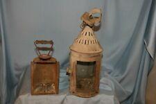 lot de 2 lanternes anciennes éclairage bougies  en fer blanc