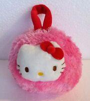 Peluche Borsetta  tonda rosa Hello Kitty - con cerniera - cm. 18x14 - Sanrio