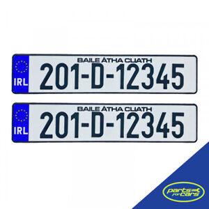 Custom Ireland Car/Van Registration Number Plates - Pressed Metal (2x Plates)