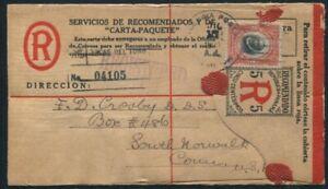 PANAMA POSTAL STATIONERY FORMULAR REGISTERED ENVELOPE BALBOA 1920 EARLY USE!
