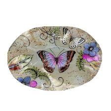 Deko-Teller oval 30 cm Schmetterling Glas Kerzenteller Obstschale 871268 formano